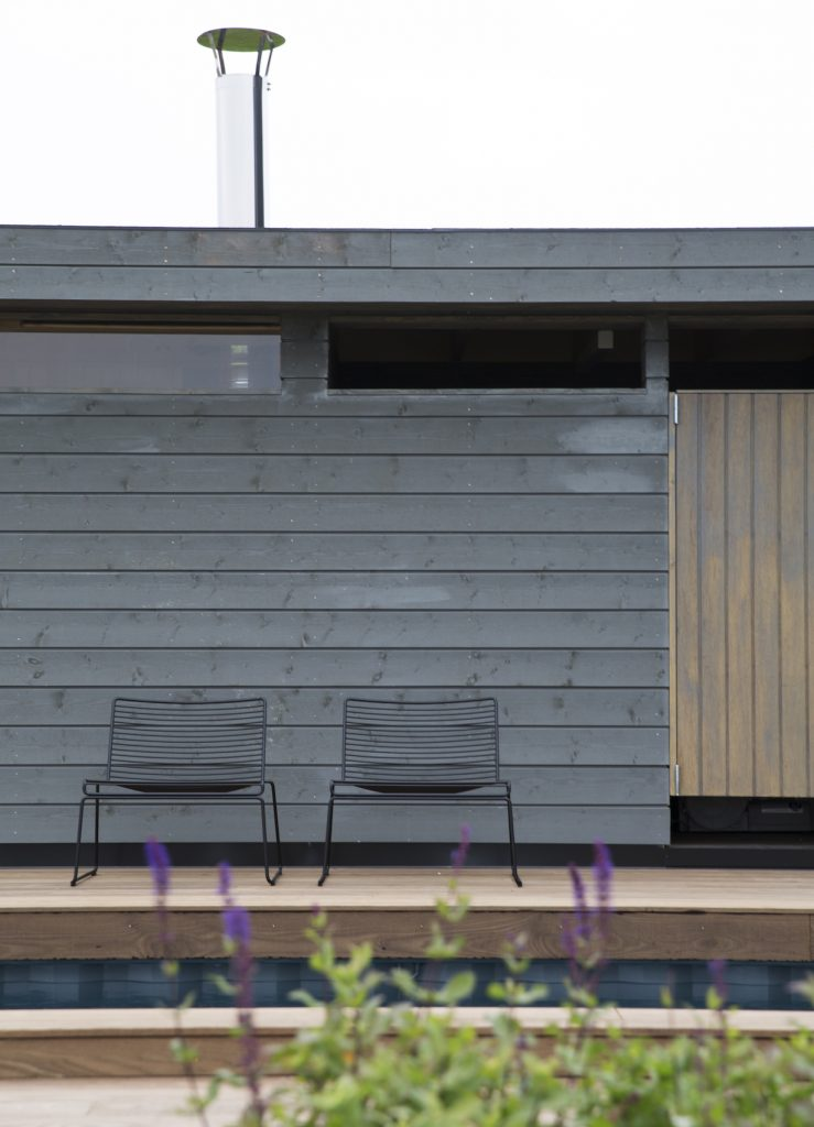 Nyfelt og Strand Interiørarkitekter, multikomforthus i Larvik, utendørs
