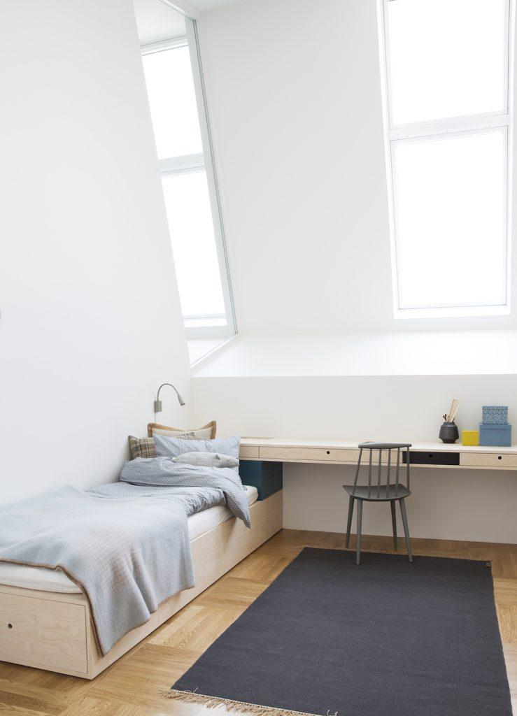 Nyfelt og Strand Interiørarkitekter, multikomforthus i Larvik, soverom