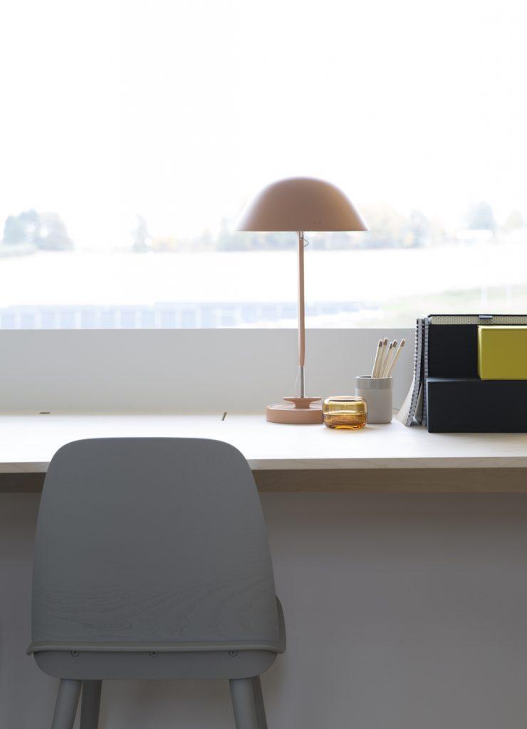 Nyfelt og Strand Interiørarkitekter, multikomforthus i Larvik, skrivebord