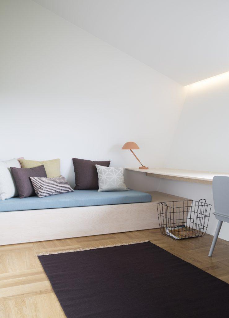 Nyfelt og Strand Interiørarkitekter, multikomforthus i Larvik, gjesterom