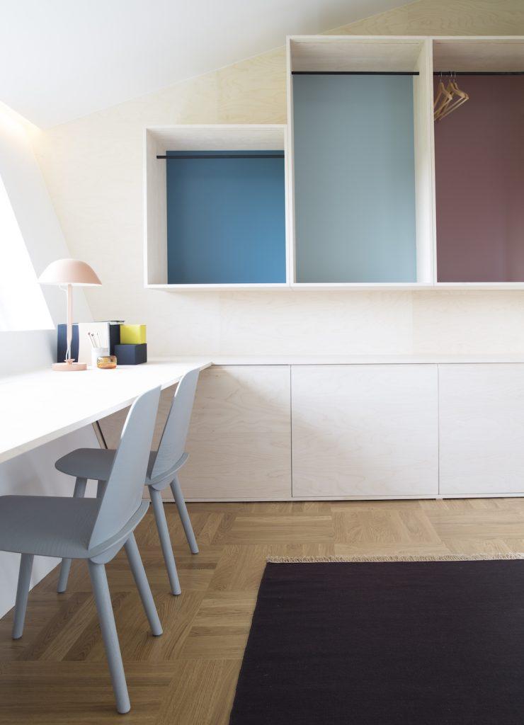 Nyfelt og Strand Interiørarkitekter, multikomforthus i Larvik, spesialinnredning gjesterom