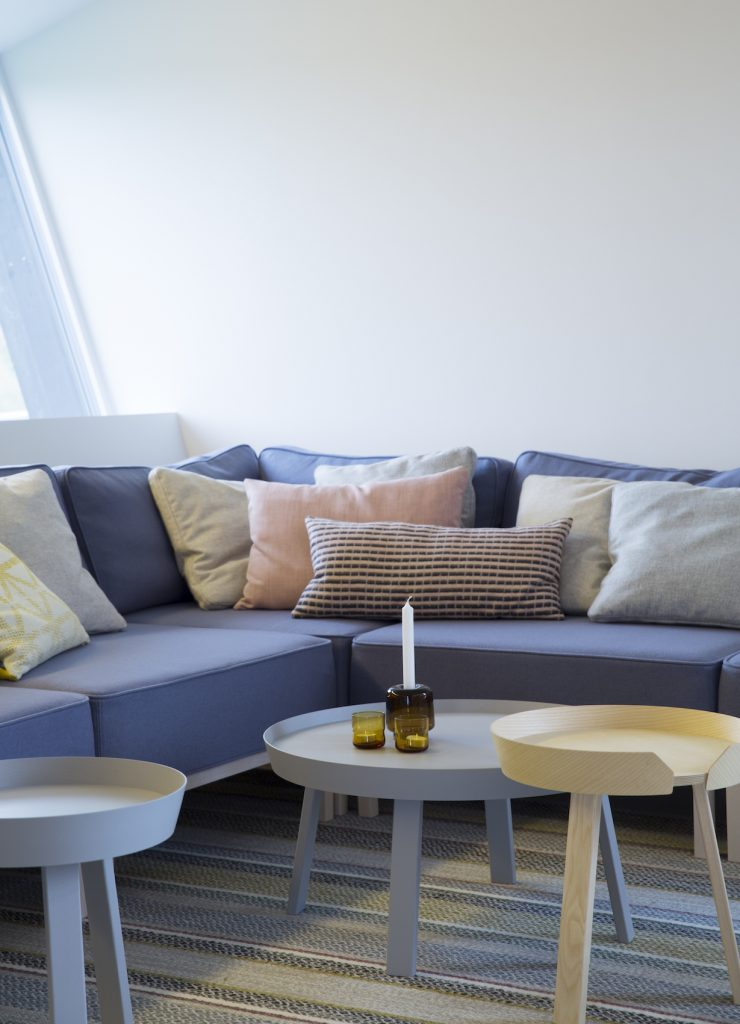 Nyfelt og Strand Interiørarkitekter, multikomforthus i Larvik, stue