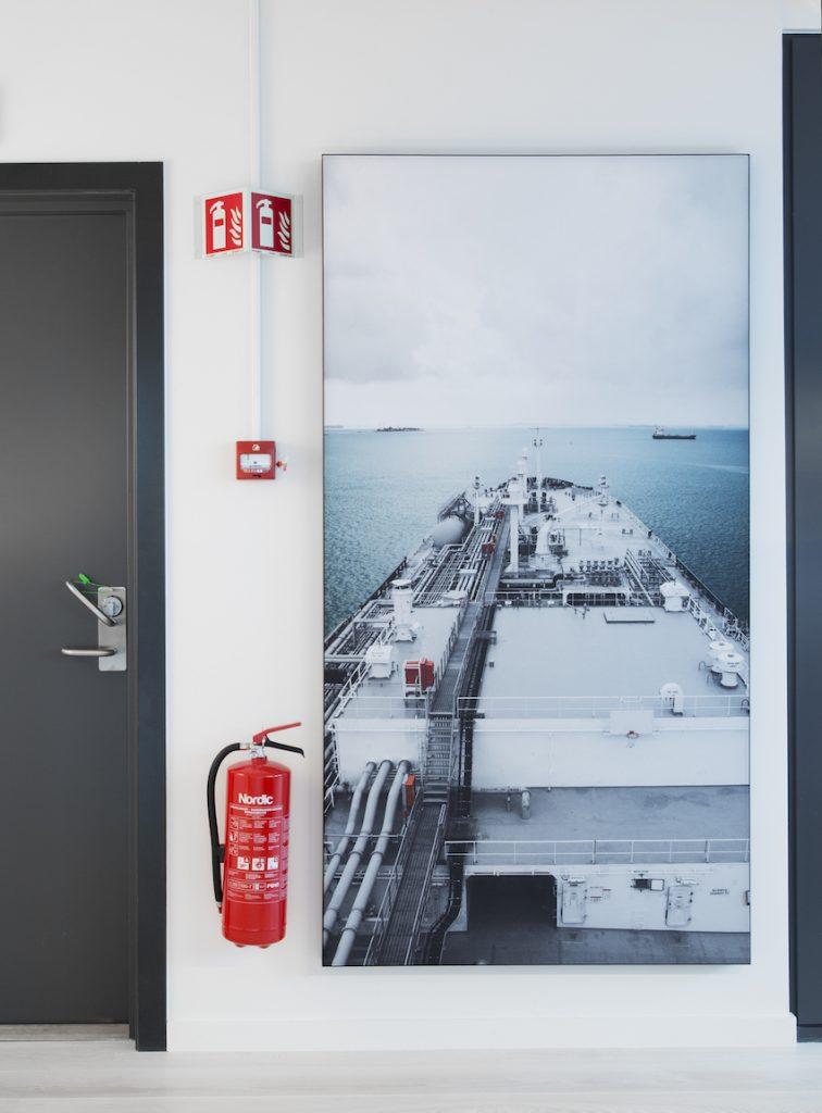 Nyfelt og Strand Interiørarkitekter, Avance Gas, kunst