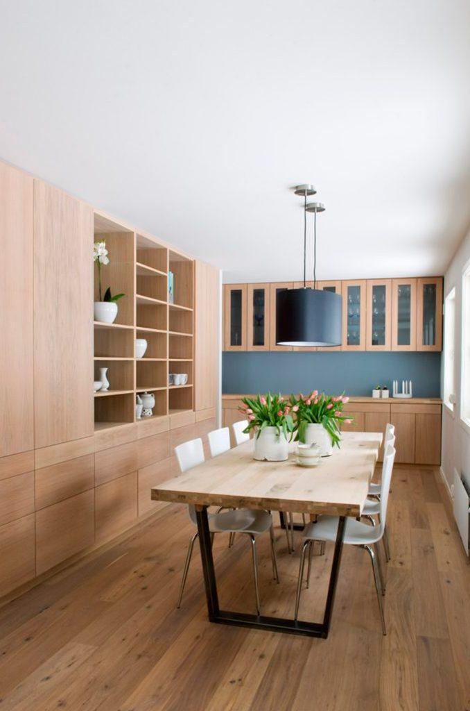 Nyfelt og Strand Interiørarkitekter, enebolig Asker, spisestue