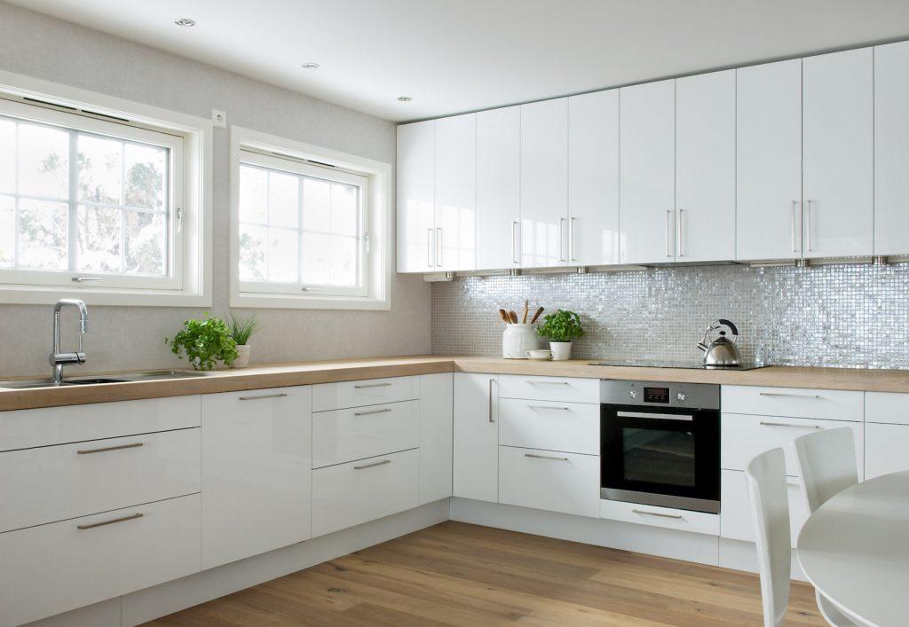 Nyfelt og Strand Interiørarkitekter, enebolig Asker, kjøkken