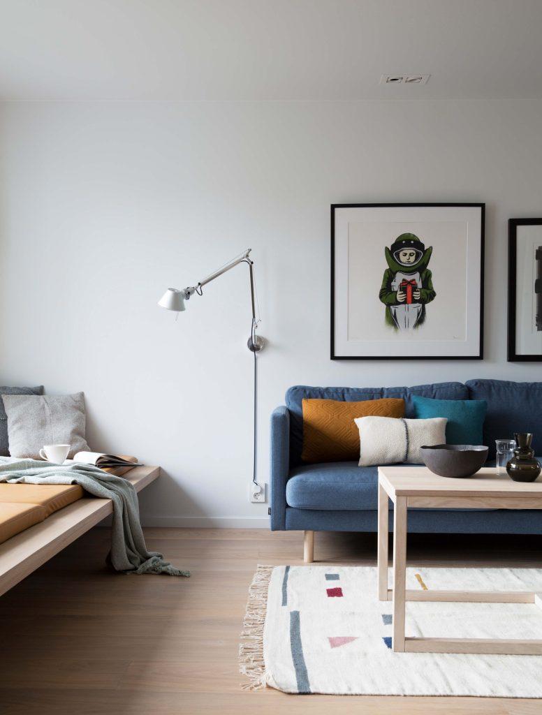 Nyfelt og Strand interiørarkitekter, enebolig nøtterøy, sofa