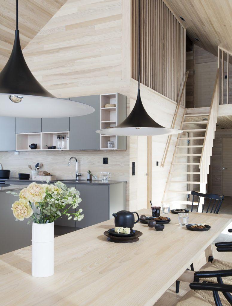 Nyfeltogstrand, interiørarkitekter, hytte hafell, spesialinnredning, kjøkken