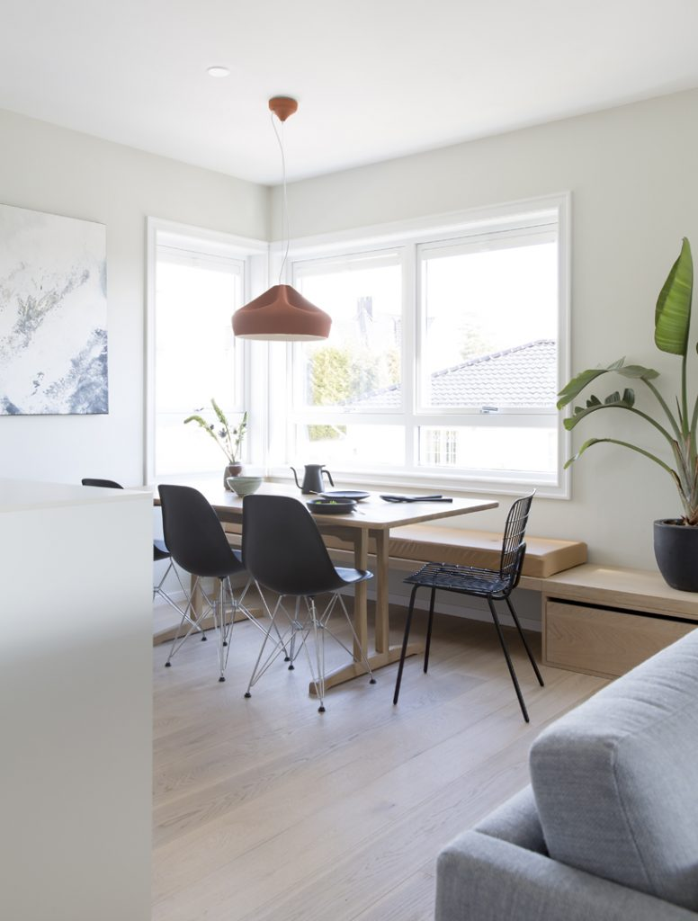 Nyfelt og Strand interiørarkitekter MNIL leilighet Oslo spiseplass