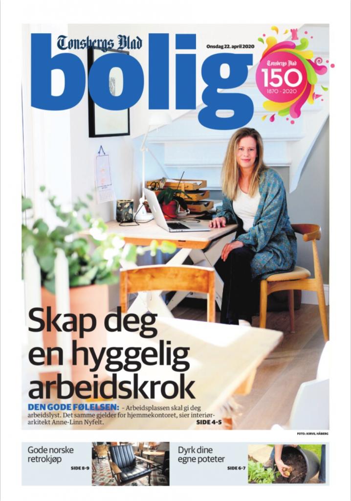 hjemmekontor Tønsbergs blad bolig